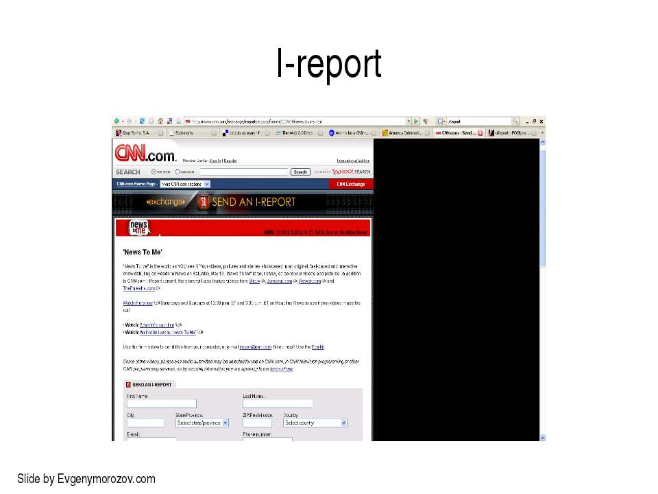 I-report Slide by Evgenymorozov.com