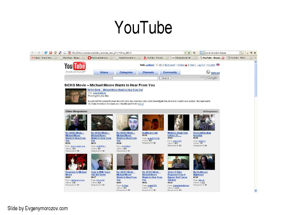 YouTube Slide by Evgenymorozov.com