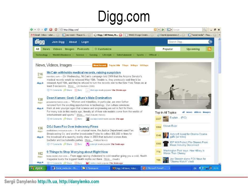 Digg.com Sergii Danylenko http://h.ua, http://danylenko.com