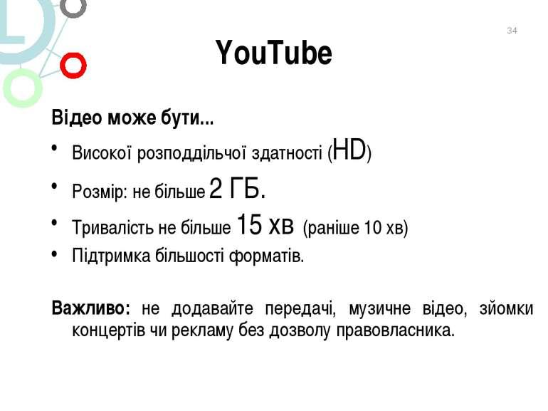 YouTube Відео може бути... Високої розподдільчої здатності (HD) Розмір: не бі...