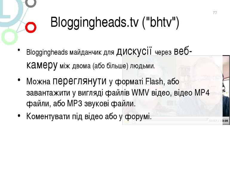 "Bloggingheads.tv (""bhtv"") Bloggingheads майданчик для дискусії через веб-каме..."