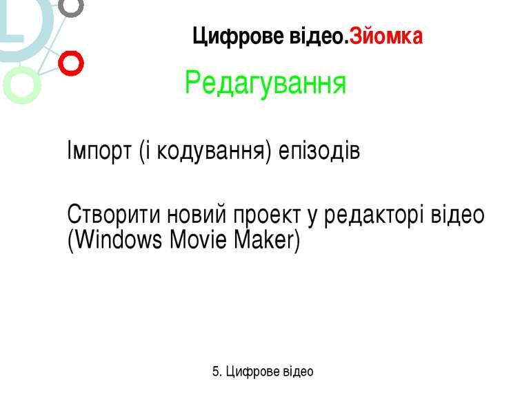 Редагування Імпорт (і кодування) епізодів Створити новий проект у редакторі в...