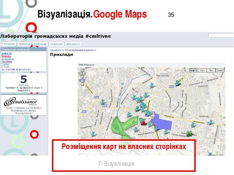 Візуалізація.Google Maps 7/ Візуалізація Розміщення карт на власних сторінках