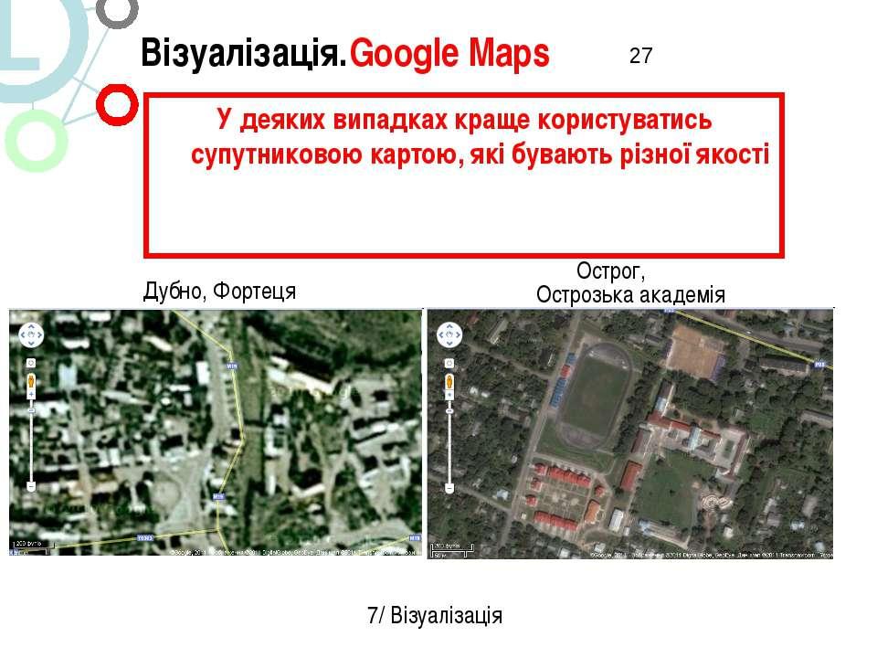 Острог, Острозька академія Візуалізація.Google Maps 7/ Візуалізація У деяких ...