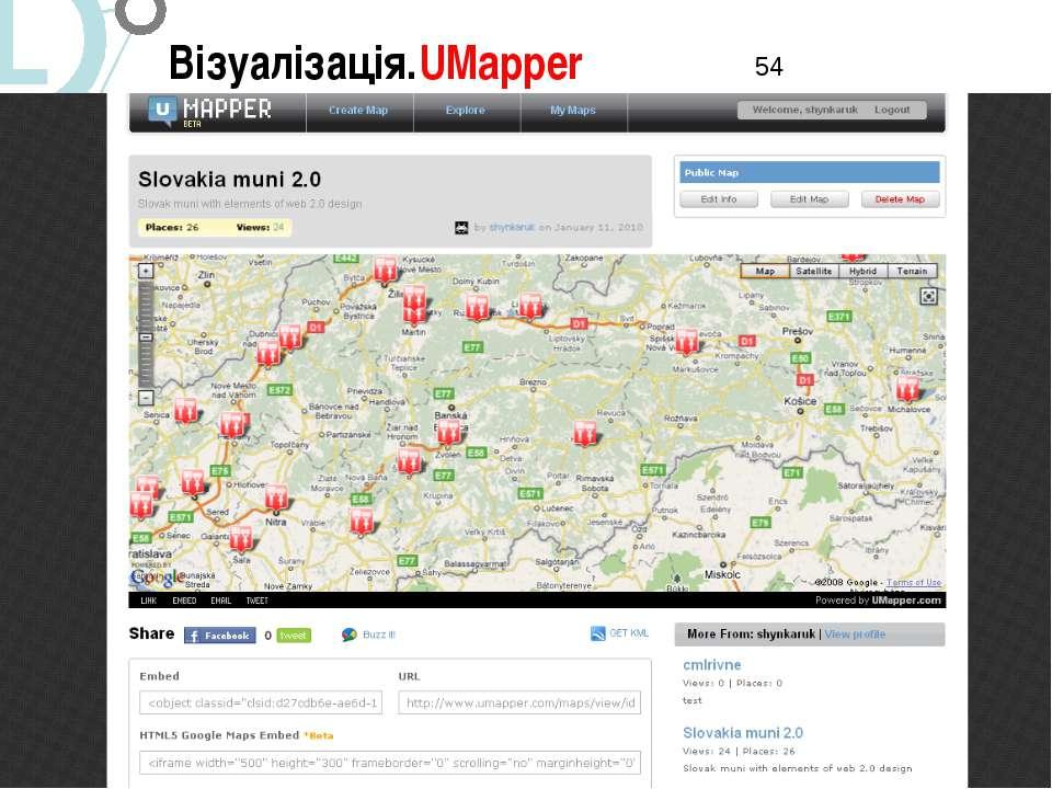 Візуалізація.UMapper