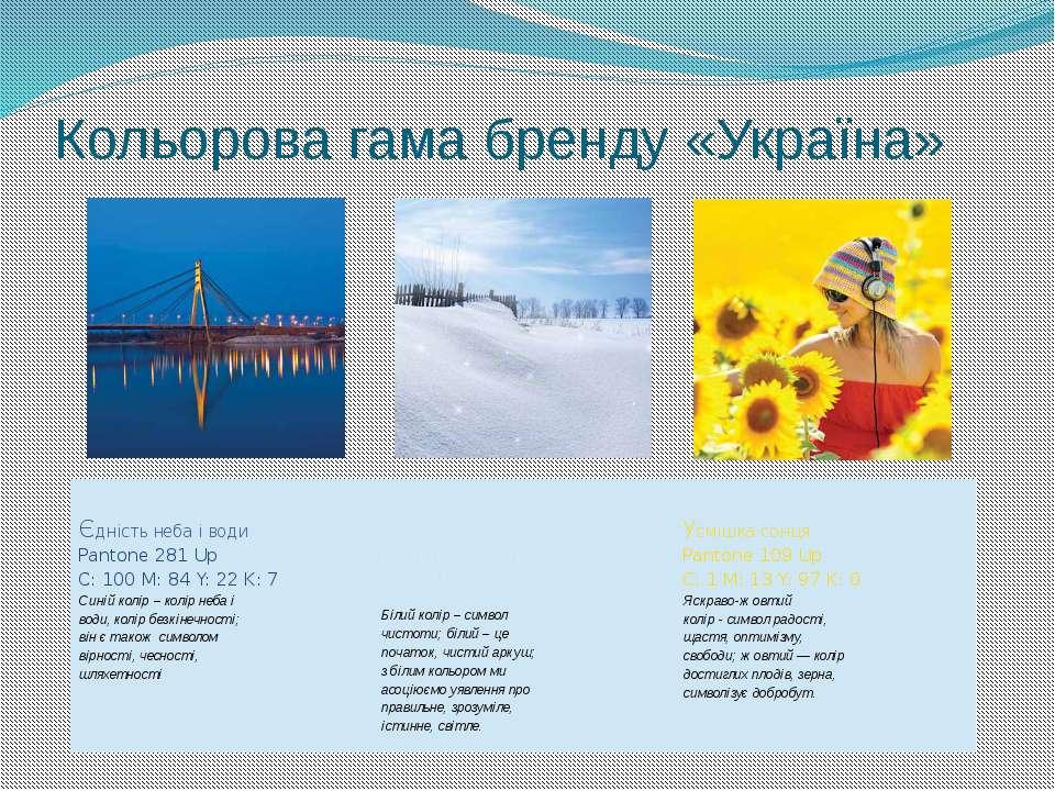 Кольорова гама бренду «Україна»