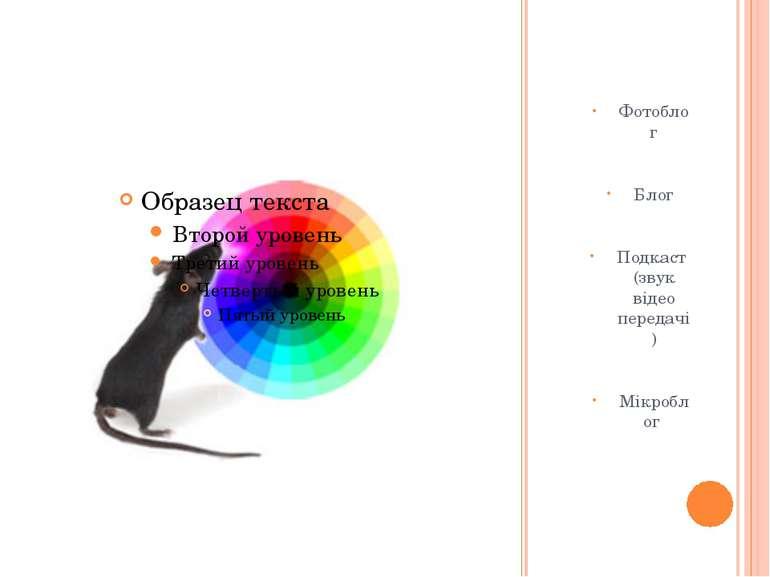 Різноманітність Фотоблог Блог Подкаст (звук відео передачі) Мікроблог