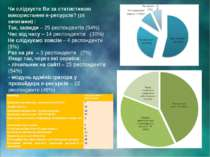 Чи слідкуєте Ви за статистикою використання е-ресурсів? (15 запитання) : Так,...