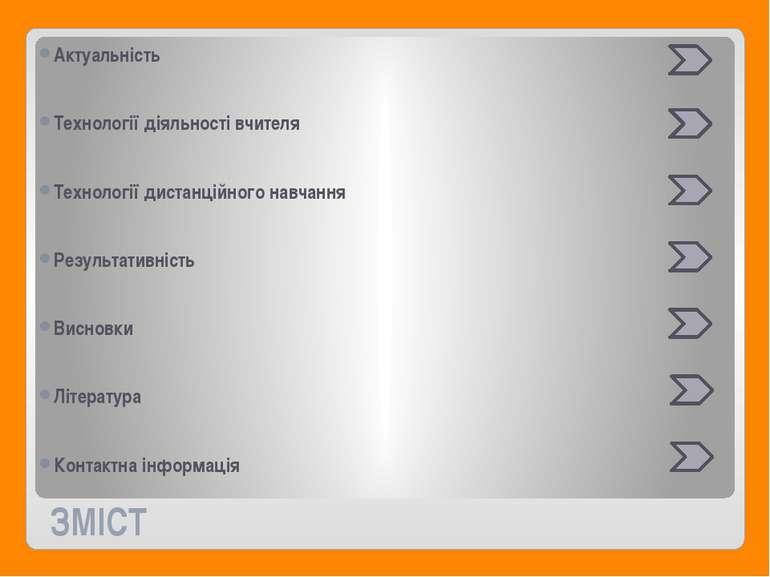 ЗМІСТ Актуальність Технології діяльності вчителя Технології дистанційного нав...