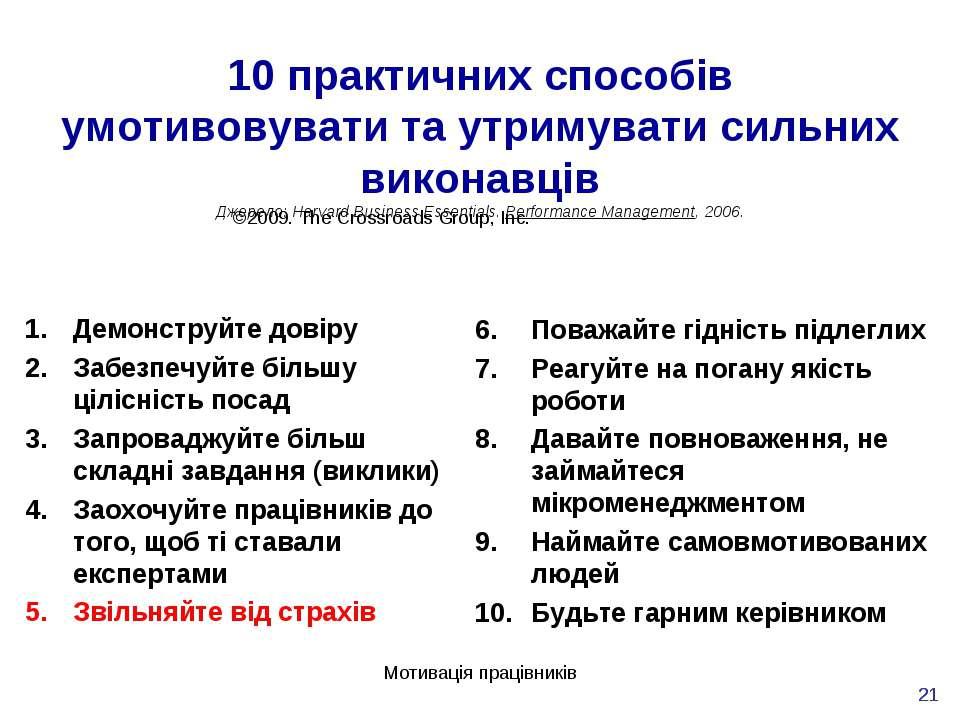Мотивація працівників * 10 практичних способів умотивовувати та утримувати си...