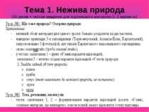 Тема 1. Нежива природа (10 уроків + тестові завдання для підсумкового контрол...