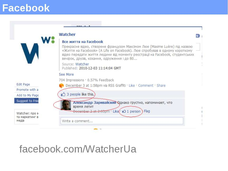 Facebook facebook.com/WatcherUa (c) Максим Саваневський maksym@watcher.com.ua