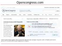 Opencongress.com OpenCongress brings together official government data with n...