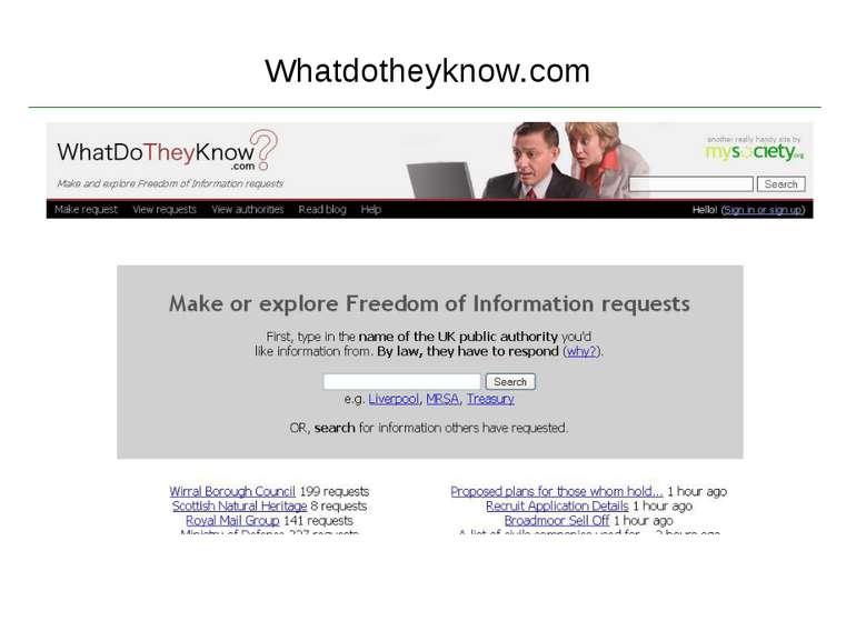 Whatdotheyknow.com