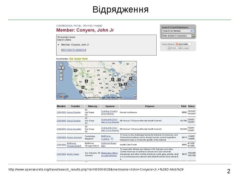 Відрядження 2 http://www.opensecrets.org/travel/search_results.php?id=N000040...