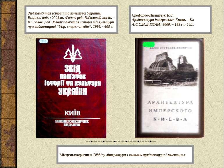 Звід пам'яток історії та культури України: Енцикл. вид. : У 28 т. /Голов. ред...