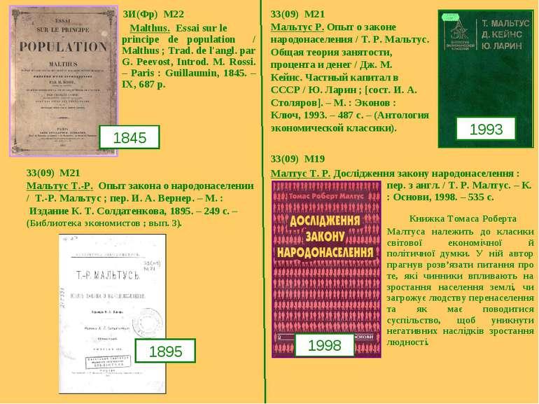 3И(Фр) M22 Malthus. Essai sur le principe de population / Malthus ; Trad. de ...
