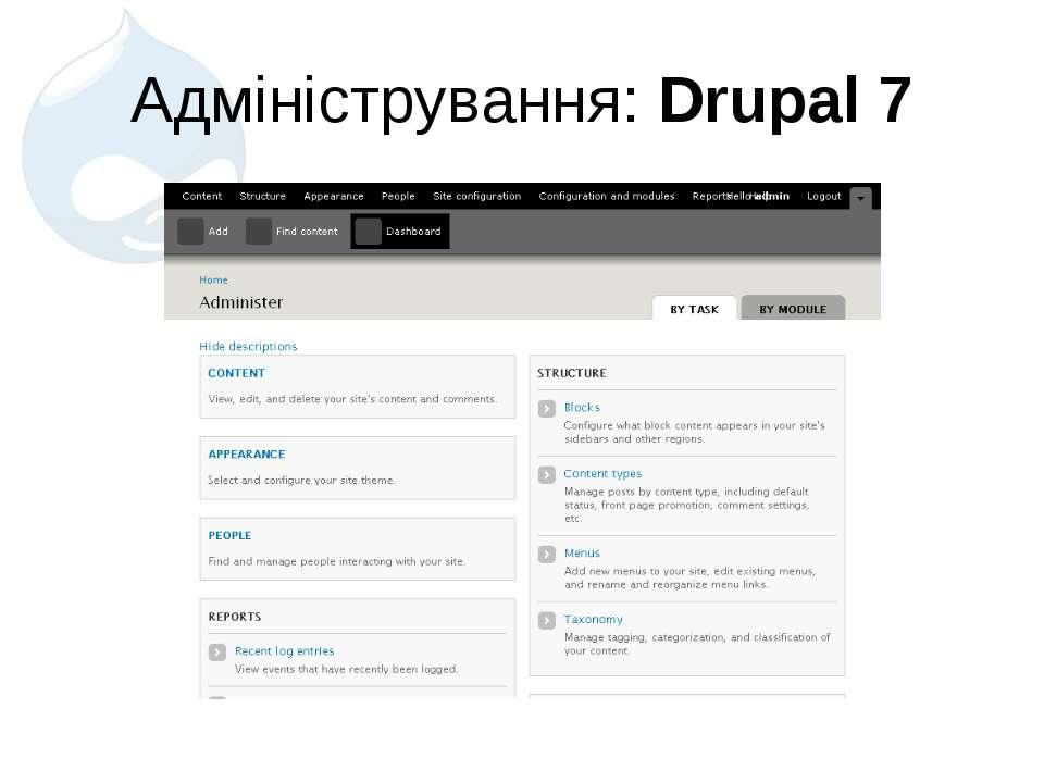 Адміністрування: Drupal 7