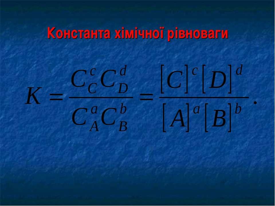 Константа хімічної рівноваги