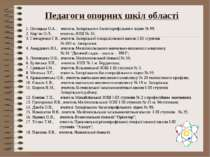 Педагоги опорних шкіл області 1. Потоцька О.А., вчитель Запорізького багатопр...