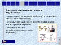 Принципові завдання комп'ютерного моделювання: розрахункове відтворення (побу...