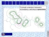 Розподіл електростатичного потенціалу в молекулі празозина KM Soft