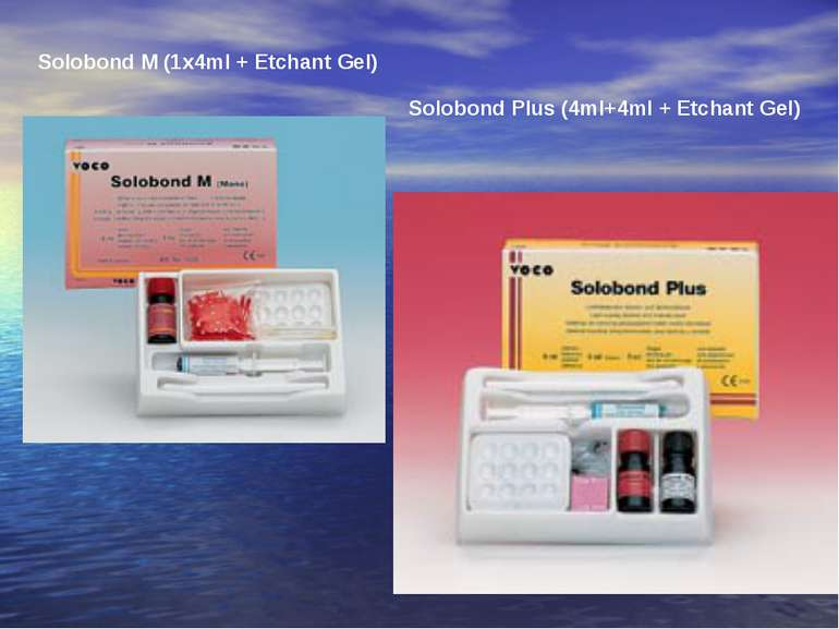 Solobond M (1x4ml + Etchant Gel) Solobond Plus (4ml+4ml + Etchant Gel)