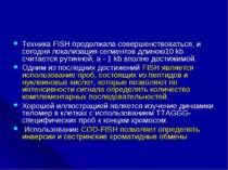 Техника FISH продолжала совершенствоваться, и сегодня локализация сегментов д...