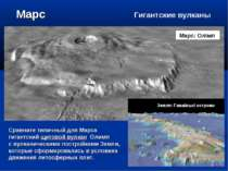 Марс Сравните типичный для Марса гигантский щитовой вулкан Олимп с вулканичес...