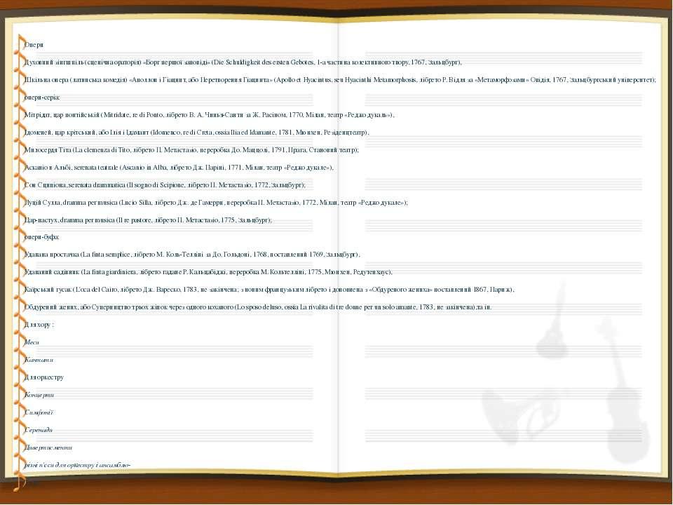 Опери Опери Духовний зінгшпіль (сценічна ораторія) «Борг першої заповіді» (Di...