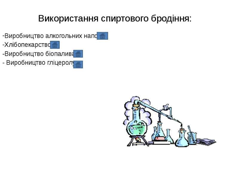 Використання спиртового бродіння: Виробництво алкогольних напоїв Хлібопекарст...