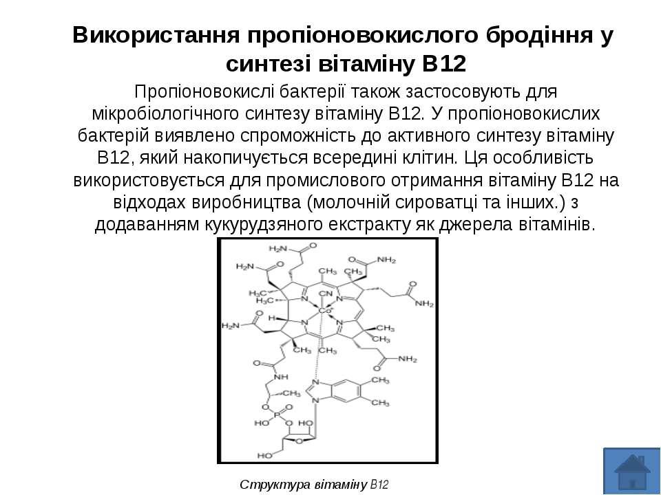 Використання пропіоновокислого бродіння у синтезі вітаміну B12 Пропіоновокисл...
