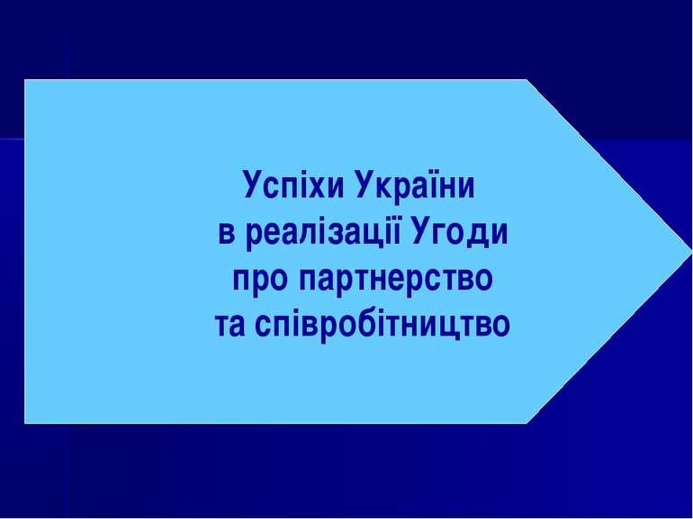 Успіхи України в реалізації Угоди про партнерство та співробітництво