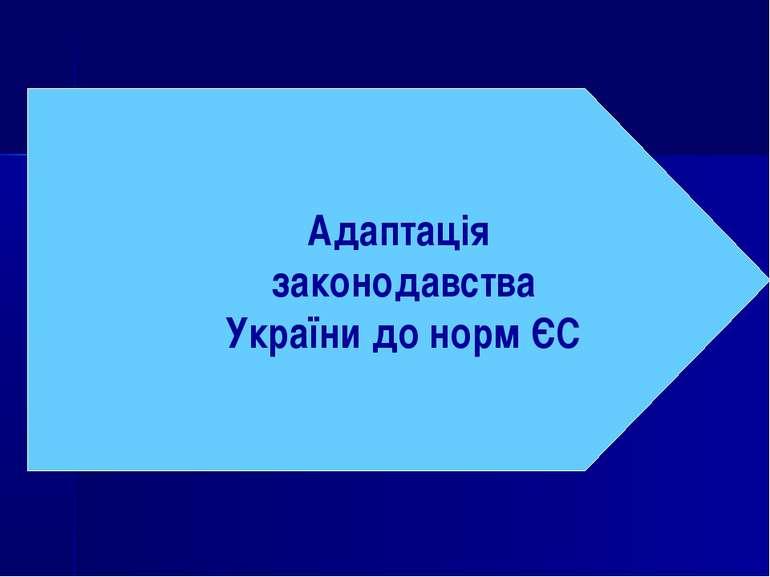 Адаптація законодавства України до норм ЄС