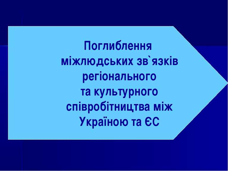 Поглиблення міжлюдських зв`язків регіонального та культурного співробітництва...