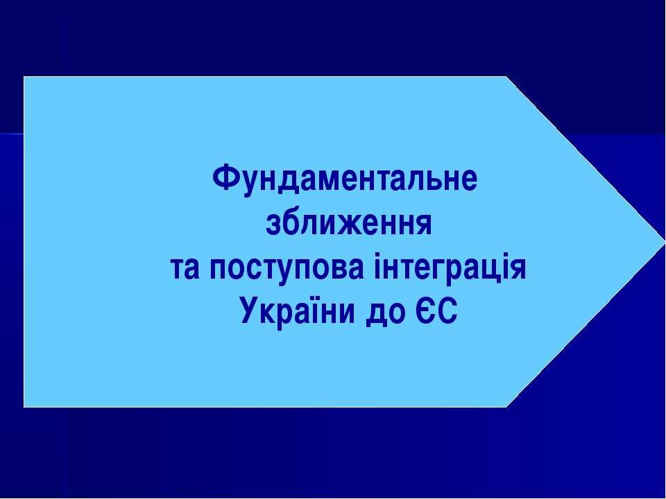 Фундаментальне зближення та поступова інтеграція України до ЄС