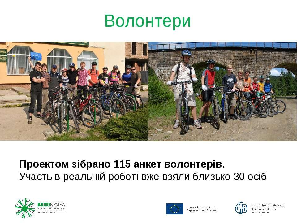 Волонтери Проектом зібрано 115 анкет волонтерів. Участь в реальній роботі вже...