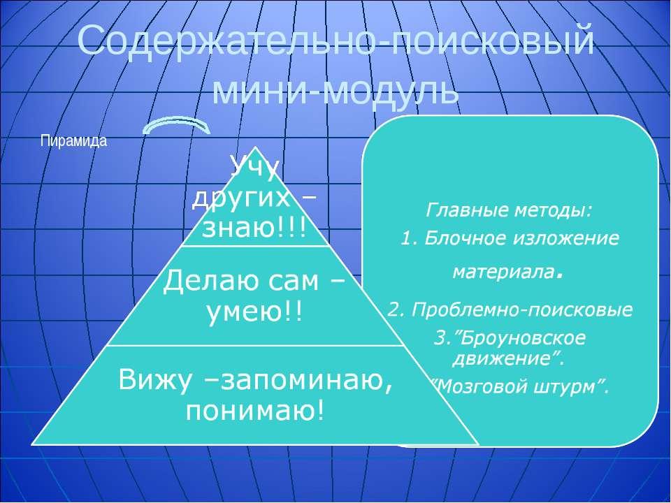 Содержательно-поисковый мини-модуль Пирамида