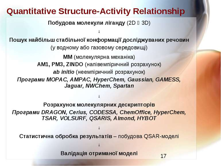 Quantitative Structure-Activity Relationship