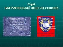 Герб БАГРИНІВСЬКОЇ ЗОШ І-ІІІ ступенів