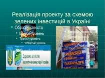 Реалізація проекту за схемою зелених інвестицій в Україні