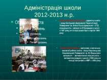 Адміністрація школи 2012-2013 н.р. Дякон Віра Георгіївна, заступник з навчаль...