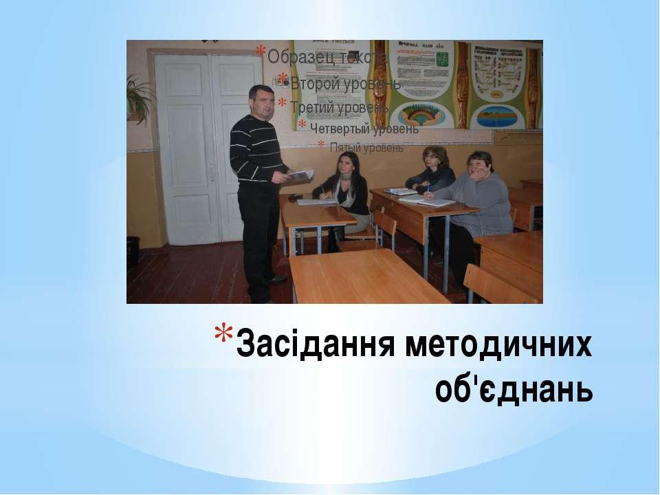 Засідання методичних об'єднань