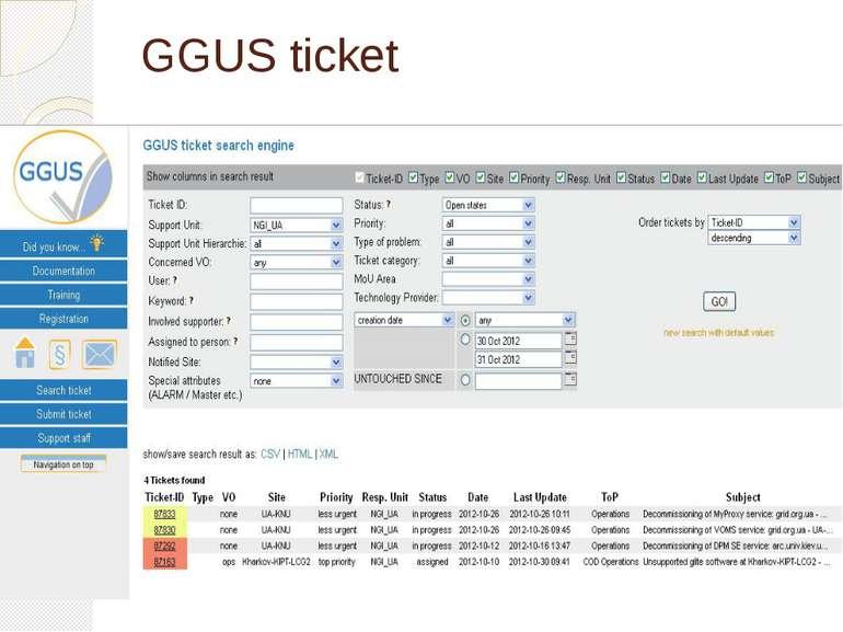 GGUS ticket
