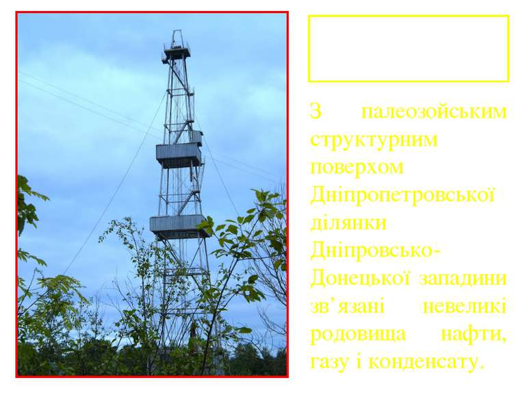 Родовища нафти і газу З палеозойським структурним поверхом Дніпропетровської ...