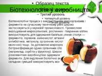 Біотехнологія у виробництві Біотехнологічні процеси з використанням мікроорга...