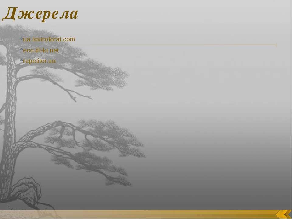 Джерела ua.textreferat.com eco.dt-kt.net repetitor.ua