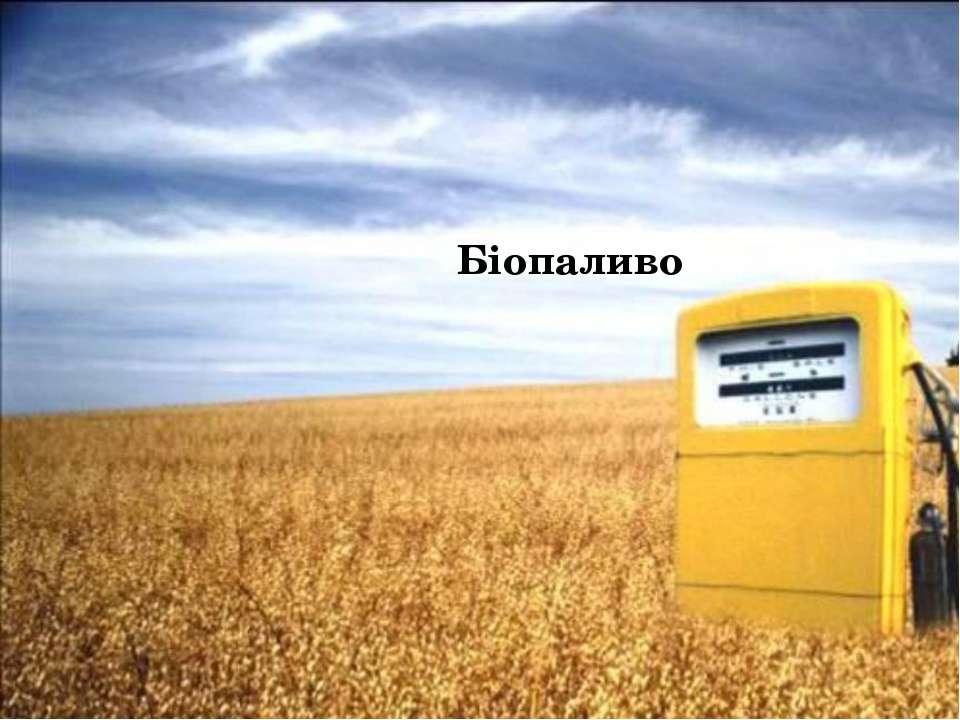 Біопаливо