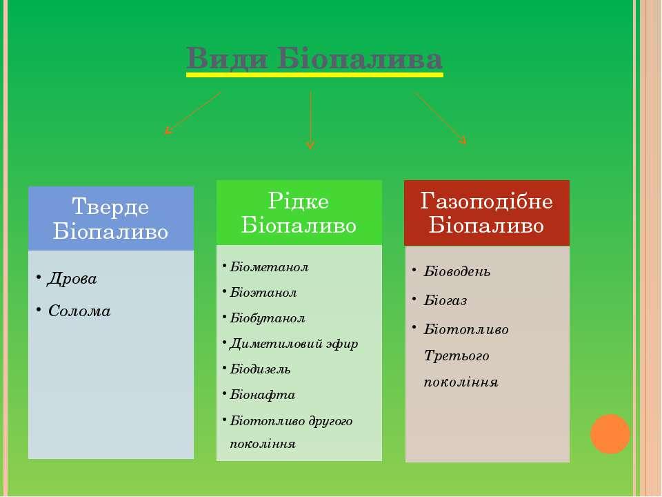 Види Біопалива