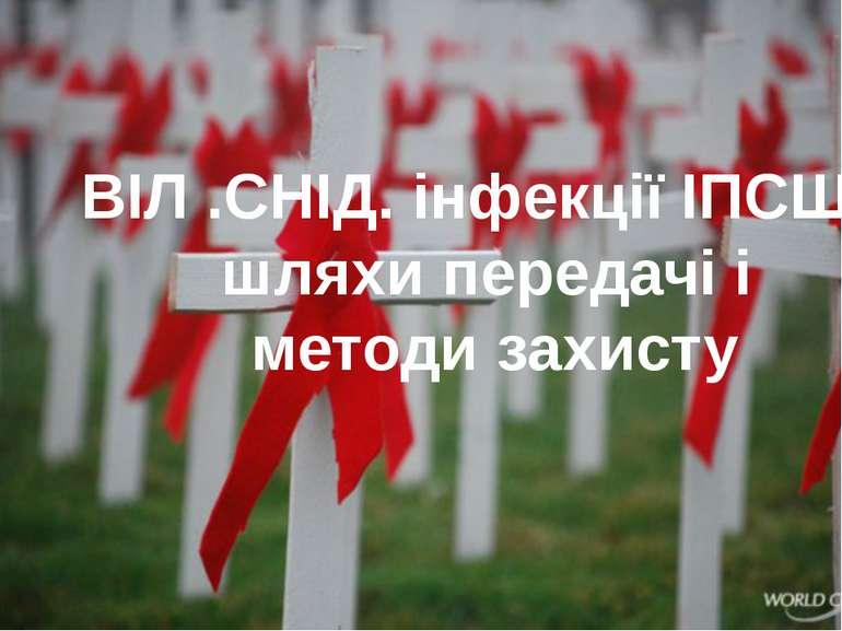 ВІЛ .СНІД. інфекції ІПСШ : шляхи передачі і методи захисту